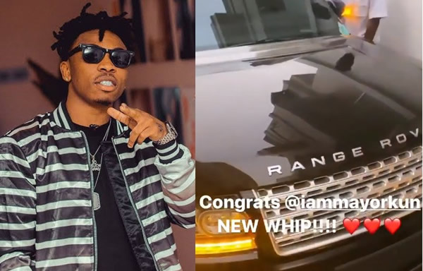 Nigerian singer, Mayorkun, has bought a brand new Range Rover