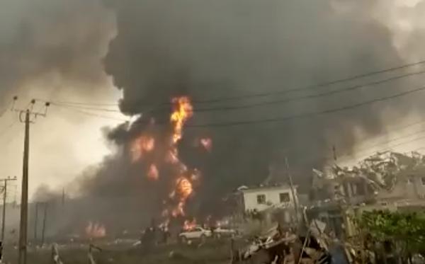 Pipeline explosion rocks Lagos