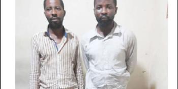 Susupected shop looters, Yinusa Saheed and Yinusa Morufu