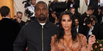 Kanye West with his wife, Kim Kardashian West