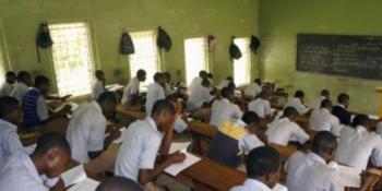 Students writing an examination