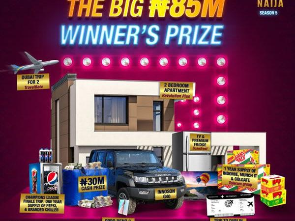 BBNaija 2020 N85 Million Grand Prize