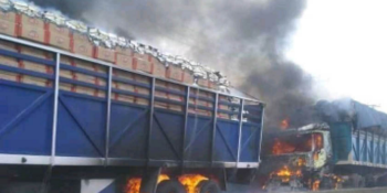 First trucks loaded with goods set ablaze by suspected IPOB members