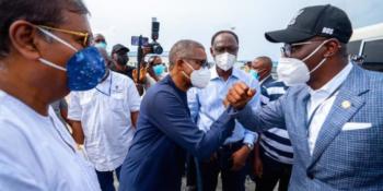 Lagos State governor, Mr. Babajide Sanwo-Olu at Trade Free Zone
