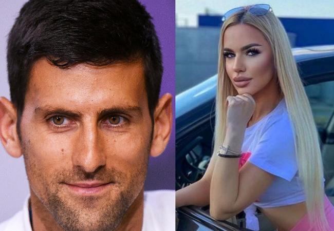Novak Djokovic and social media influencer, Natalija Scekic