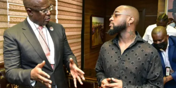 Nigerian singer, David Adeleke, aka, Davido, has paid a visit to Nigeria's Minister of State for Petroleum Resources, Timipre Sylva.