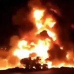 Gas tanker explosion
