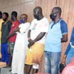 The 12 persons arrested at the residence of Yoruba freedom fighter, Sunday Adeyemo (Sunday Igboho) by the Department of State Services (DSS)