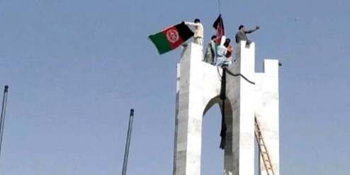 Afghan protesters against Taliban